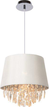 Afbeelding van Witte Leen Bakker Lucide hanglamp Dolti - wit - Ø30,5 cm