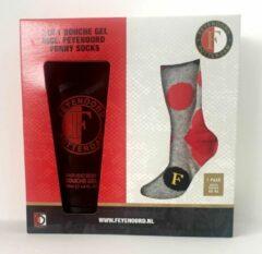 Rode Feyenoord Funny Socks + 2 in 1 douchegel