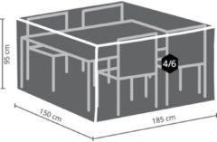 Antraciet-grijze Maxx Tuinset beschermhoes - 185 x 150 x 95 cm - rechthoekig - M