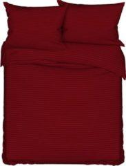Deco Milano, Dekbedovertrek donker rood, hoog kwaliteit 100% Katoensatijn, 200 X 220 2X kussenslopen,