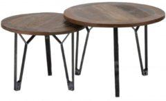Zaloni Salontafel Set Julianne van 40 en 45 cm hoog - Gerecycled hout