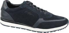 Donkerblauwe Tommy Hilfiger Premium Suede Runner FM0FM02551-CKI, Mannen, Blauw, Sneakers maat: 45 EU