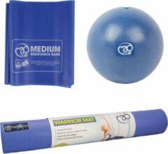 Blauwe Fitnes Thuis Sport Set