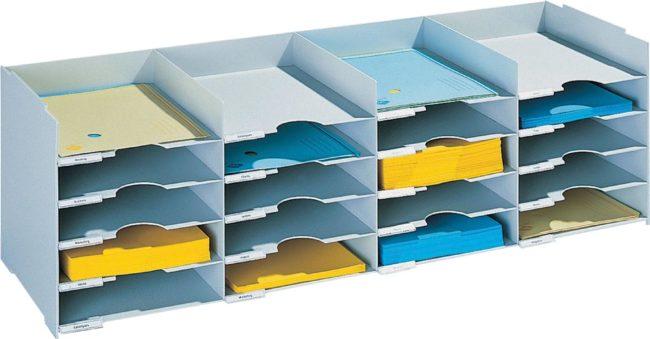 Afbeelding van Sorteerrek Paperflow met laden met 20 laden, breedte 101 cm
