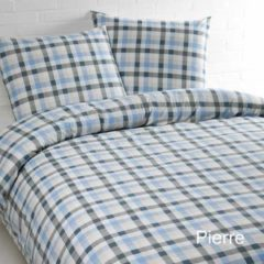 Day Dream Pierre - Dekbedovertrek - Lits-jumeaux - 240x200/220 cm + 2 kussenslopen 60x70 cm - Grijs/Lichtblauw