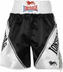 Blauwe Lonsdale Pro Large Logo Braid & Tassle Trunks Black/White Xs - Boksbroek