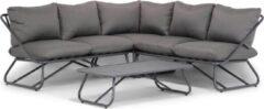 Antraciet-grijze Lifestyle Garden Furniture Lifestyle Bologna hoek loungeset 4-delig