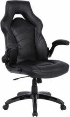 IVOL Gamestoel Prime Zwart - Gaming stoel met inklapbare armleuningen - Ergonomische Game stoel