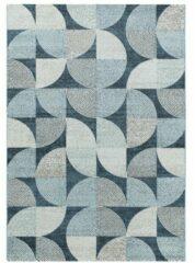 Royal Casa Design Vloerkleed Laagpolig Blauw- 80x250 CM