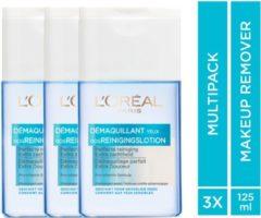 L'Oréal Paris L'Oréal Paris Skin Expert Oog- & lipmake-up Remover Waterproof - 3 x 125 ml - Voordeelverpakking