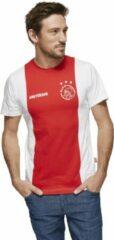 AFC Ajax Ajax T Shirt Senior - Maat S - Rood/Wit
