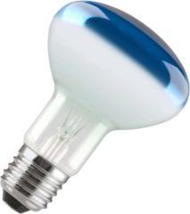Gloeilampgoedkoop.nl Reflectorlamp R80 blauw 60W grote fitting E27