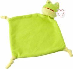 Lupine Tutdoekje knuffeldoekje Kikker in het groen- pluche doekje - baby speelgoed voor jongens en meisjes