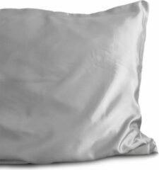 2x Luxe Glans Satijn Kussenslopen Zilver | 60x70 | Goed Voor De Haar En Huid | Tegen Acne En Onzuiverheden