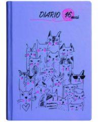 Nobrand Diario 16 mesi Kats Lilla 13x17,8 cm