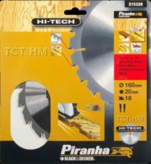 Piranha Cirkelzaagblad TCT/HM, 160x20mm 18 tanden X15320
