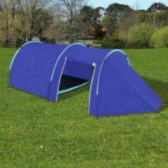 Merkloos / Sans marque Campingtent Blauw 4 persoons 395x180x110cm - Koepeltent - Kampeertent - Pop-up tent