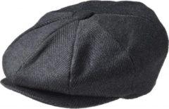 Zwarte Peaky Blinders Newsboy Cap Pinstripe Black-M