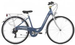 Cicli Cinzia 28 ZOLL CINZIA SFERA LADY CITY FAHRRAD ALUMINIUM 7-GANG Citybike Damen blau