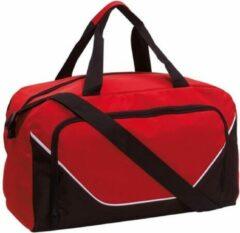 Merkloos / Sans marque Sporttas/reistas 29 liter rood/zwart - Sporttassen - Weekendtassen - Voetbaltassen
