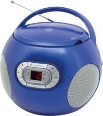 Soundmaster SCD2000BL draagbare Radio CD-speler FM AM blauw