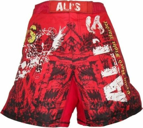 Afbeelding van Ali's fightgear kickboks broekje - mma short - 2 rood - M