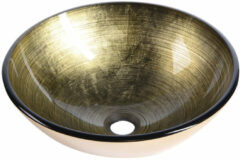 Sapho Mendoza glazen waskom 42cm brons