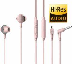Rode Tuddrom H3 Roze - Hi-Res In Ear Oordopjes met Microfoon - Dual High Quality Dynamic Drivers - 2 Jaar Garantie