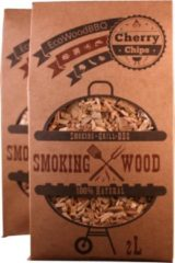 EcoWoodBBQ Rookhout chips KERS - 2X 2 Liter