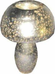 Loods28 Waxinelichthouder paddenstoel zilver 15CM