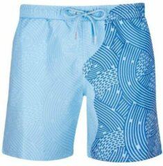 Seasons Liquid Lines | Oceaan - Blauw | Kleurveranderende zwembroek