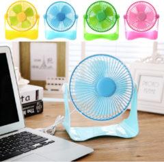 Rechargeable 7 inch Cooling Fan 5V Aluminum Leaf USB Fan Plastic Handy Small Desk Desktop Mini Fan