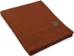Bruine Knit Factory Uni Plaid - Terra - 160x130 cm