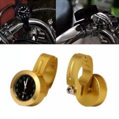 Orchid Motor klokje RVS Hoog Kwaliteit / Motor Stuur Horloge Klokje / Stuurklok Goud