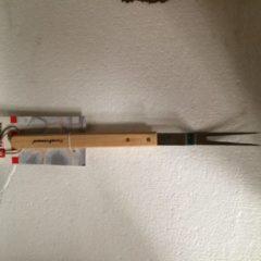 Barbecue vork 48 cm lang met houten steel merk firefriend