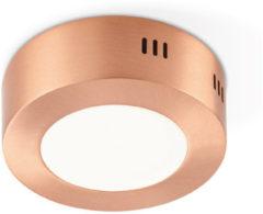Light Depot - LED Plafondlamp Ska 12 - Koper Metaal - 6W LED geïntegreerd