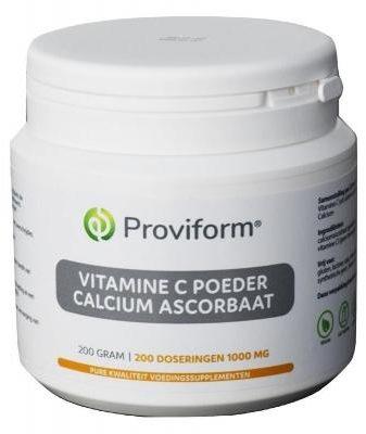 Afbeelding van Proviform Vitamine C Poeder Calcium Ascorbaat (200g)