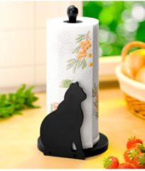 Küchenrollenhalter 'Katze' Wenko schwarz