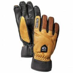 Hestra - Army Leather Wool Terry 5 Finger - Handschoenen maat 10, zwart/bruin