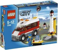 Witte LEGO City Satelliet Lanceer Platform - 3366