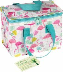 Blauwe Rex London - Flamingo Bay - Lunch Tasje - Koeltasje - Vintage Look, ouderwets degelijk!