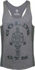 Grijze Gold's gym GGVST010 Muscle Joe Tonal Panel Stringer Vest - Grey - XXL