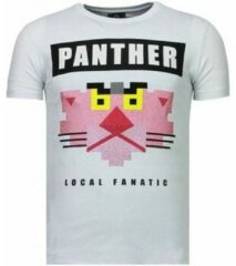 Witte T-shirt Korte Mouw Local Fanatic Panther For A Cougar - Rhinestone T-shirt