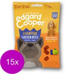 Edgard & Cooper Kip Bites - voor honden - Hondensnack - 15 x 50g