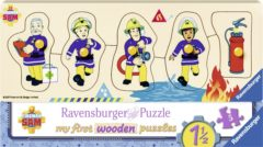 Ravensburger Spieleverlag Ravensburger houten puzzel Brandweerman Sam en zijn vrienden - 5 stukjes