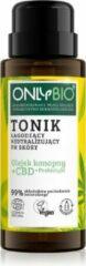 OnlyBio Hennepolie + CBD + Priebiotica Kalmerend tonicum om de huid te neutraliseren PH 300ml