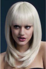 Witte Fever - Lange Pruik Met Pony - Blond