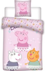 Roze Peppa Pig Dekbedovertrek - 140 x 200 cm - Polyester