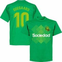 Retake Real Sociedad Odegaard 10 Team T-Shirt - Groen - XL