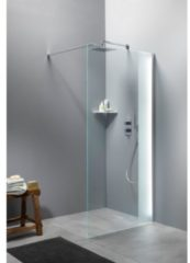 Boss & Wessing Inloopdouche BWS Free Time 90x200 cm Timeless Coating Met Strook Matglas Chroom